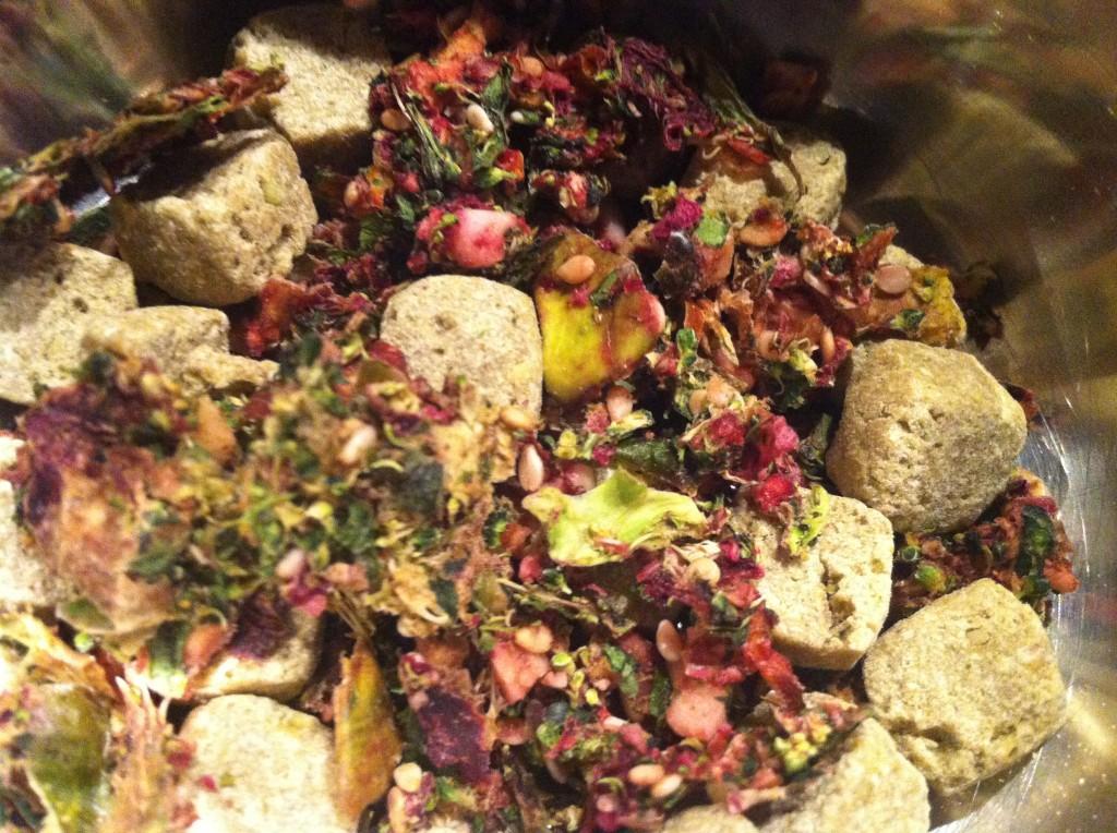 pellets commercieel en zelf gemaakt